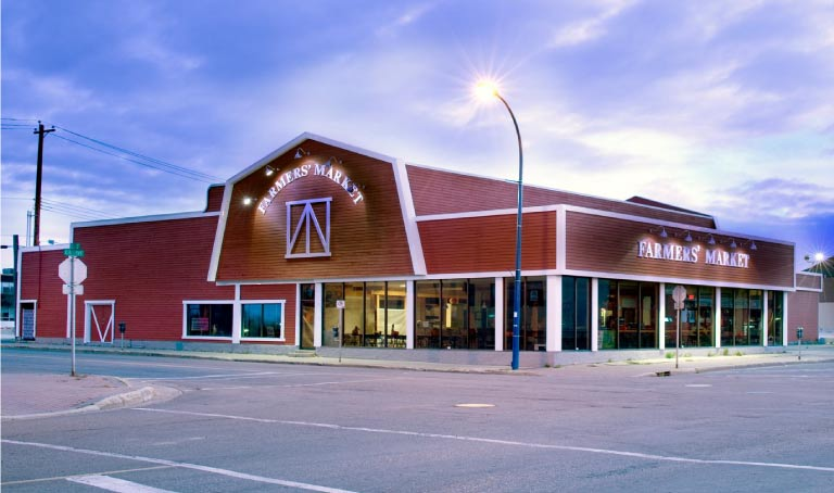 Farmer's Market Building in Grande Prairie, AB